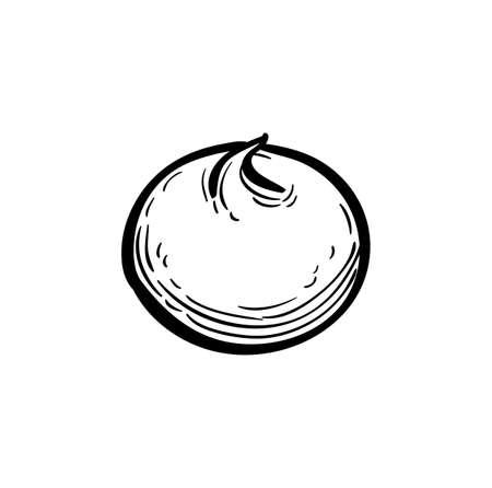 Ink sketch of meringue Imagens - 131568088