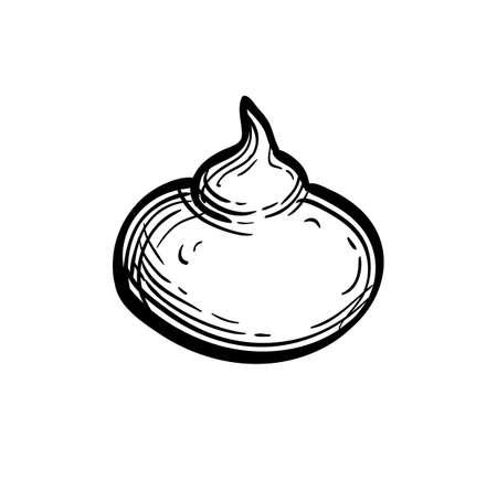 Ink sketch of meringue Imagens - 131564845