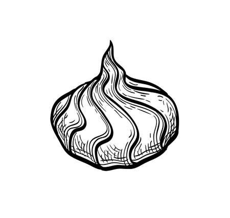 Ink sketch of meringue Imagens - 131564319