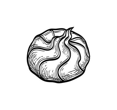 Ink sketch of meringue Vetores