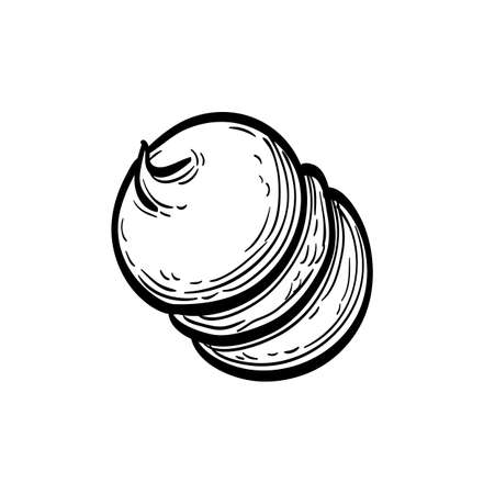Ink sketch of meringue Imagens - 131564018