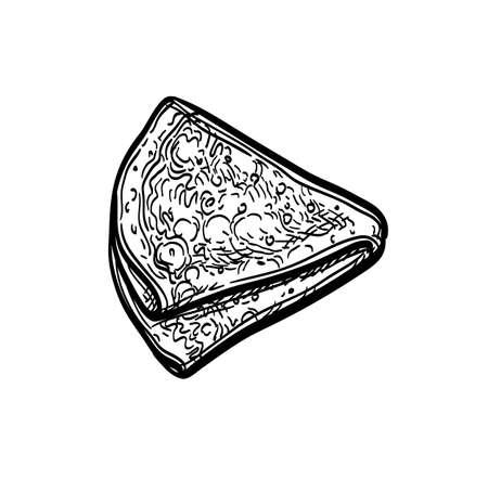 Ink sketch of blini 向量圖像