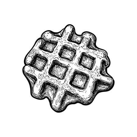 Ink sketch of waffle.  イラスト・ベクター素材