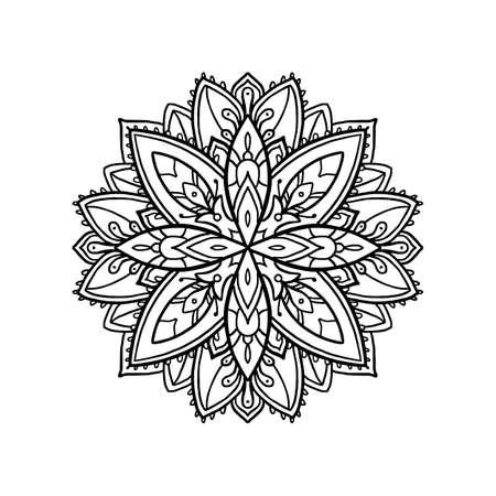 Boho style mandala Ilustração