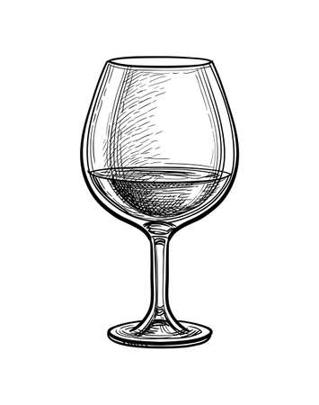 Ink sketch of whiskey glass