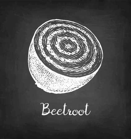Chalk sketch of beetroot. Illusztráció