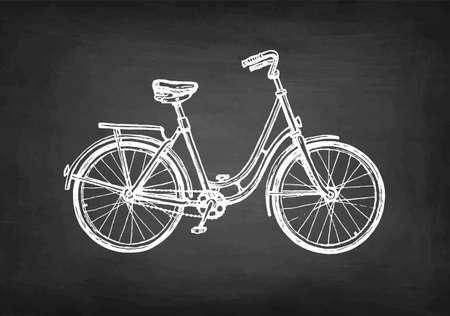 Chalk sketch of vintage bicycle.