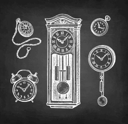Vintage clock set.