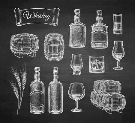 Chalk sketch of whiskey.