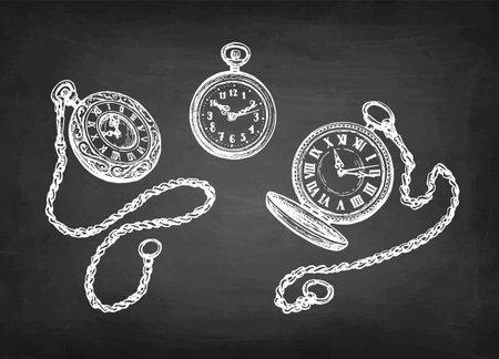 Ink sketch of pocket watch.