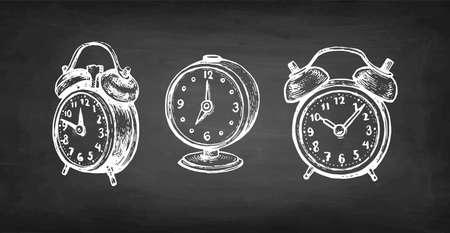 Vintage alarm clock. Иллюстрация