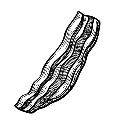 Ink sketch of fried bacon.