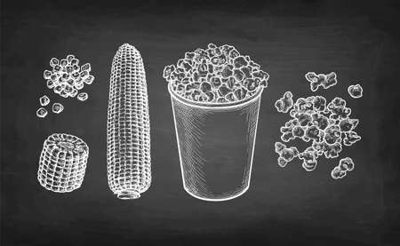 Chalk sketch of popcorn.