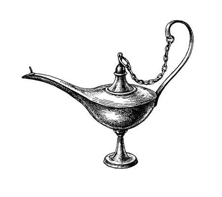 Oriental oil lamp.