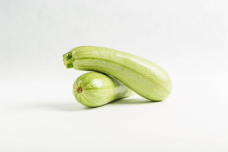 zucchini isolated on white background, close up, copy space, vegetables for healthy eating