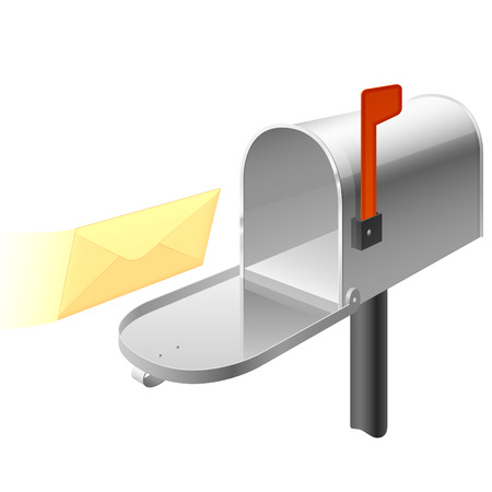 postbox: Vector mail box Illustration