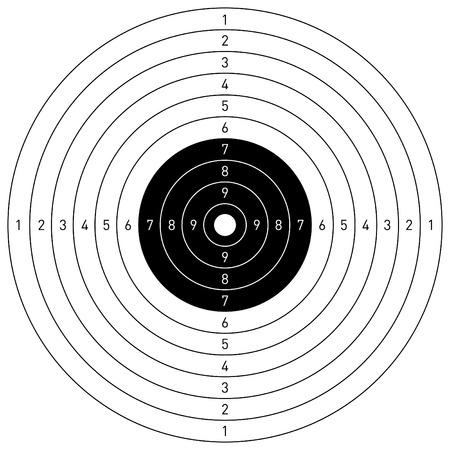 target shooting: Vector target Illustration