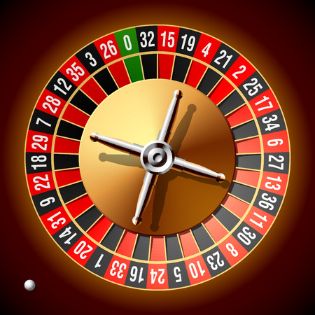 betting: Roulette wheel. Vector illustration.