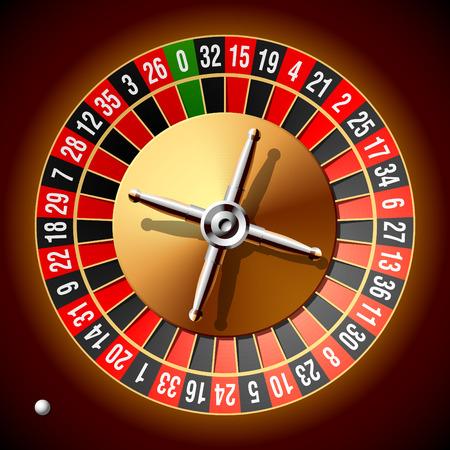 Roulette wheel. Vector illustration. Stock Vector - 5623246