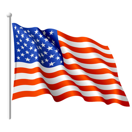 flag vector: Flag of the USA. Vector illustration.