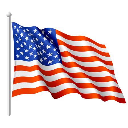 flagge: Flagge der USA. Vektor-Illustration.