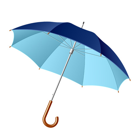 sunshades: Opened umbrella. Vector illustration. Illustration