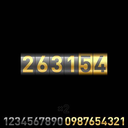 multiply: Contador. Ilustraci�n vectorial. Multiplicar por 2 n�meros por debajo y cambiar.
