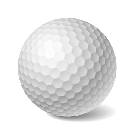 golf equipment: Golf ball. Vector illustration.