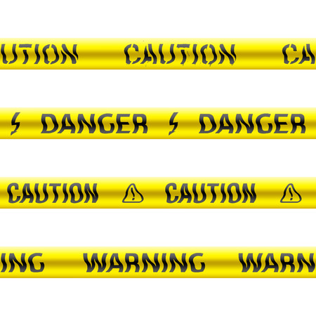 Tapes of caution. Seamless