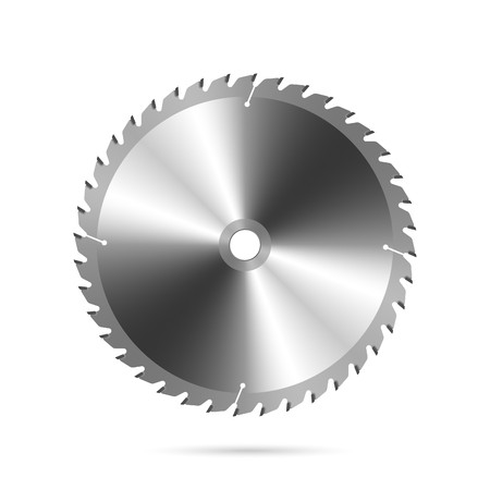 circular saw: Cirkel zaag blade Stock Illustratie