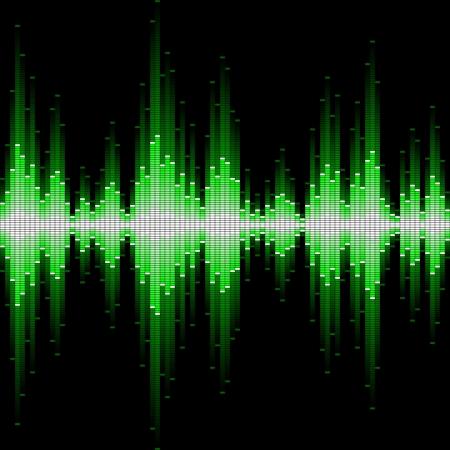 Sound waveform. Seamless illustration. Illustration