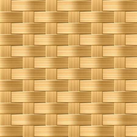 vime: Wicker pattern. Seamless illustration.