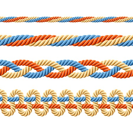 Seamless set of rope elements Illustration