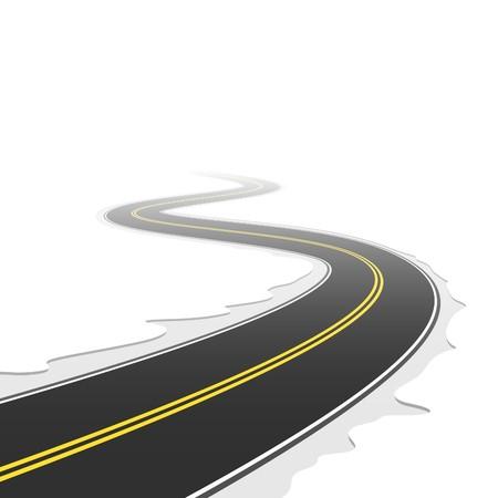 bent highway: Winding road
