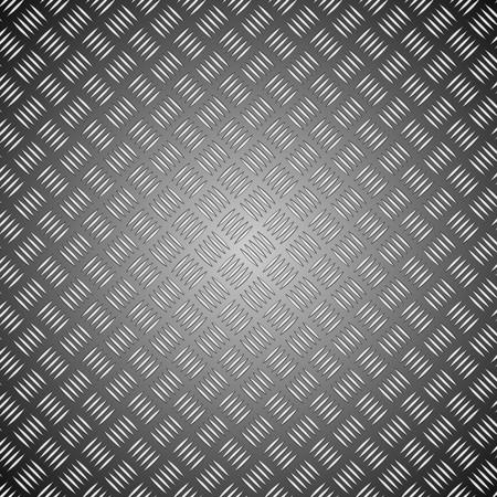 checker plate: Metal plate. Detailed illustration. Illustration