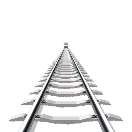 railway track: Railway. Gedetailleerde illustratie.