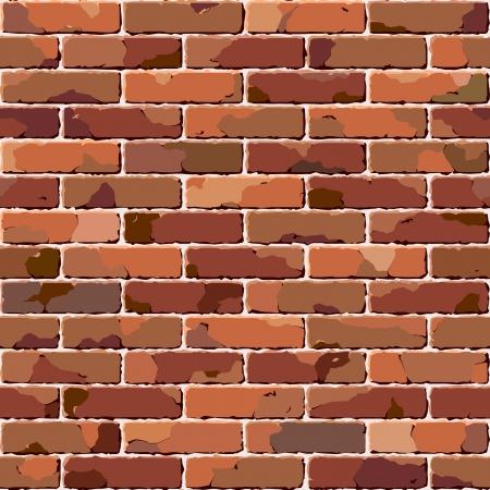 Old brick wall. Seamless texture. Stock Vector - 7856512