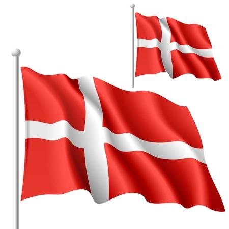 waving flag: Flag of Denmark Illustration