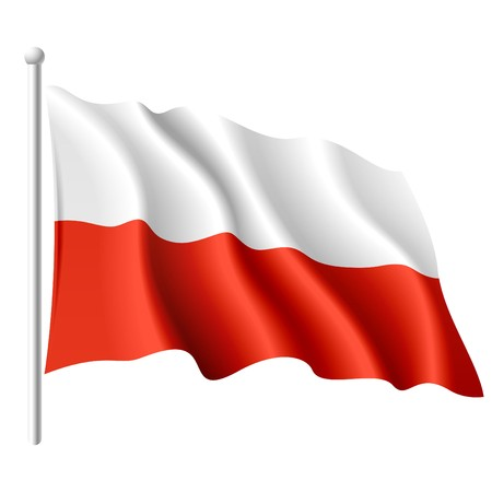 poland: Flag of Poland Illustration