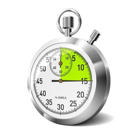 Mechanical stopwatch. Vector.