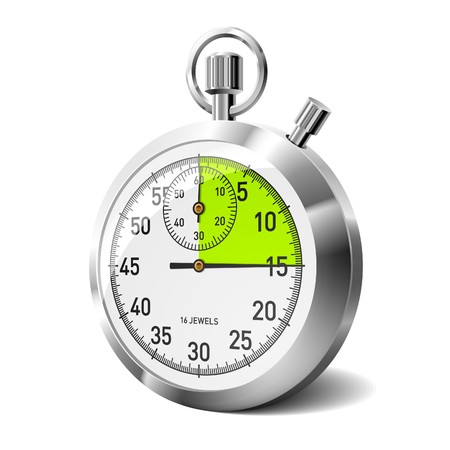 timer: Mechanical stopwatch. Vector.