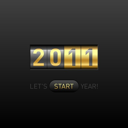 New Year counter. Vector. Illustration
