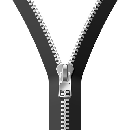 zip: Black Zipper Stock Photo