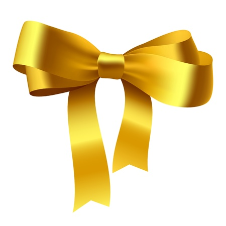Gold bow  photo