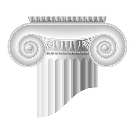 volute: Colonna ionica  Archivio Fotografico