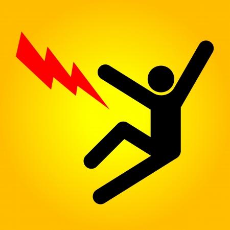 electric shock: Signo de alto voltaje