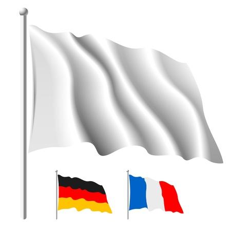 White flag template Stock Photo - 9690088