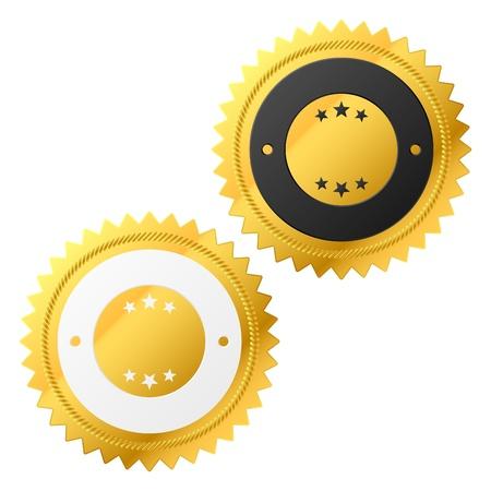 Golden labels  Stock Photo - 9690045