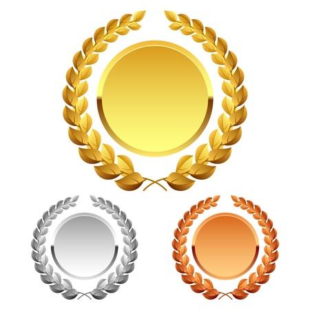 laureles: Corona de laurel  Foto de archivo