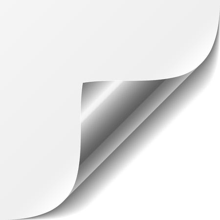 döndürme: Beyaz sayfa köşesi